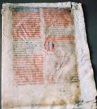 Croatian glagolitic manuscript from 15th century kept in Ljubljana