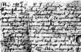 cursive glagolitic muniment from Li�ki Po�itelj, 1393.