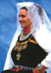 Croatian national costume from Kraljeva Sutjeska, from the monograph by Ljiljana Beljkasic-Hadzidedic