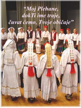 Croatian costumes from the Plehan area, BiH