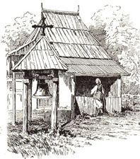 Wooden chapel of Bosnian Catholics