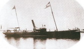 Steamship Hrvat (Croat), with Croatian flag, 1870s, Senj (from R.F. Barbalic, I. Marendic: Onput, kad smo partili, MH Rijeka, 2004, with permition of Mr. Darko Dekovic)