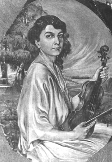 Dora Pejacevic (1885-1923), Croatian composer (portrait by Maxo Vanka)