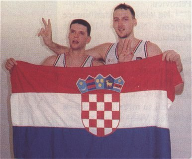 Drazen Petrovic and Dino Radja, silver medalists at Olympic Games in Barcelona, 1992 (photo from www.drazenpetrovic.com)
