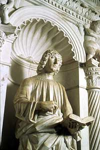 Ivan Duknovic: St. John Evangelist, round 1482, Trogir Cathedral