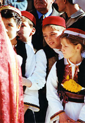 Konavle children on the feast of sv. Vlaho, protector of Dubrovnik (photo by Najka Mirkovic)