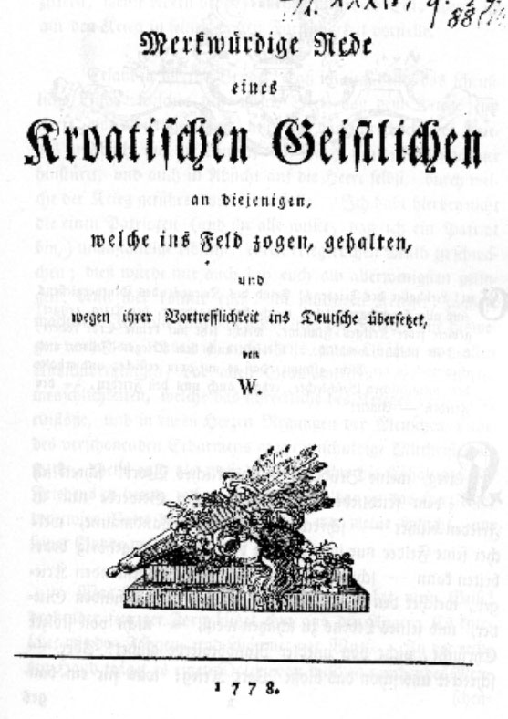 German edition from 1778