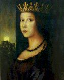 Bosnian Queen Katarina (portrait by Giovanni Bellini, Rome)