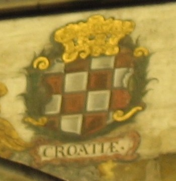Croatian coat of arms, Cathedral of St. Vitus, Hradcani, Prague (photo by dr. Kresimir Malaric)