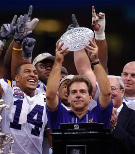nick saban at LSU