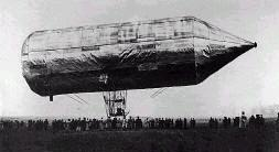 The first steerable metal airship by David Schwarz,