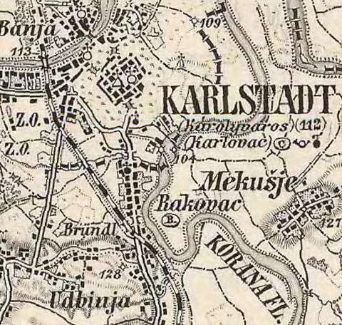 Karlovac i Rakovac 1870 g.