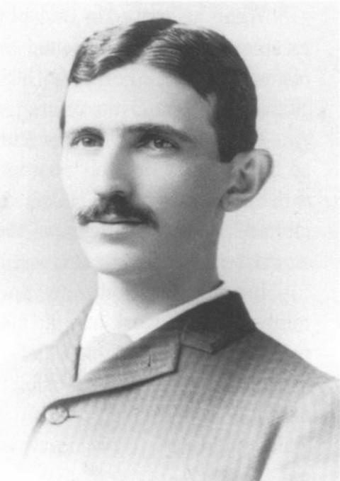 Nikola Tesla 1884. g., u dobi od 28 godina