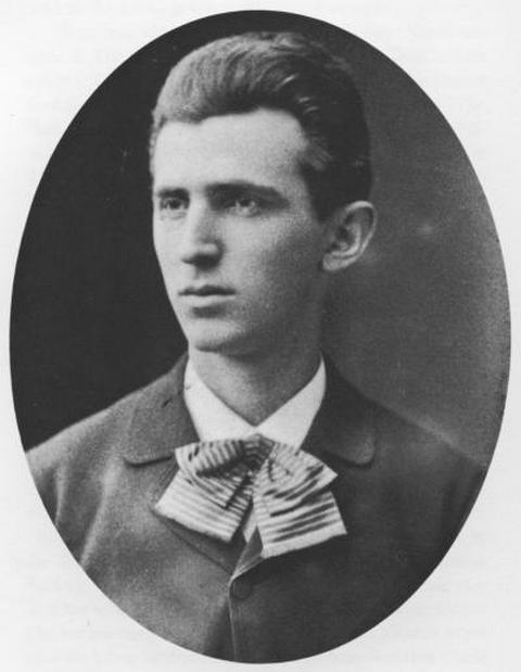 Nikola Tesla 1879 g., u dobi od 23 godina