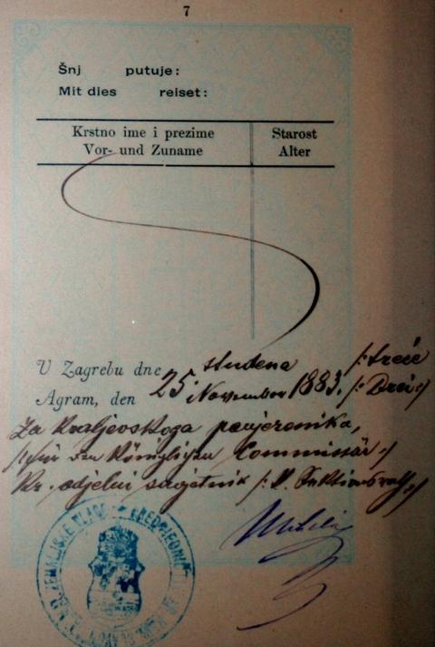 Putovnica na ime Nikole Tesle