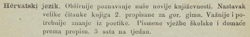 Hrvatski jezik koji je Tesla slušao na školi u Rakovcu