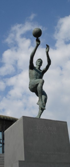 Drazen Petrovic, monument in Zagreb
