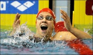 Sanja Jovanovic, 2007, world record in 50m backstroke