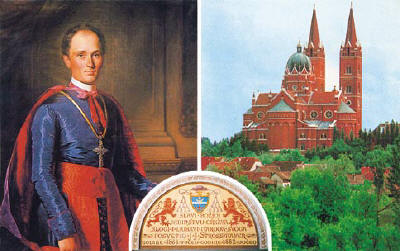 J.J. Strossmayer and the Cathedral in Osijek