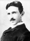 Nikola Tesla at the age of 39